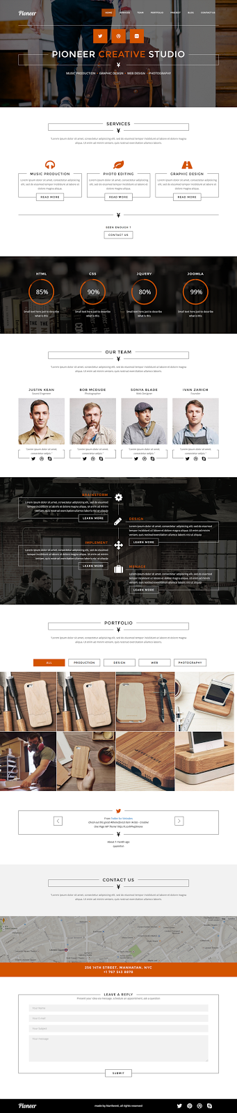 best One Page Joomla template