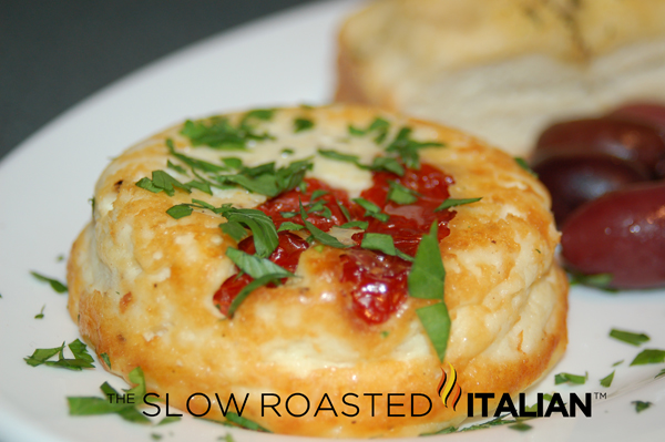 Baked Ricotta with Sun-dried Tomatoes