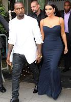 Kim Kardashian blue