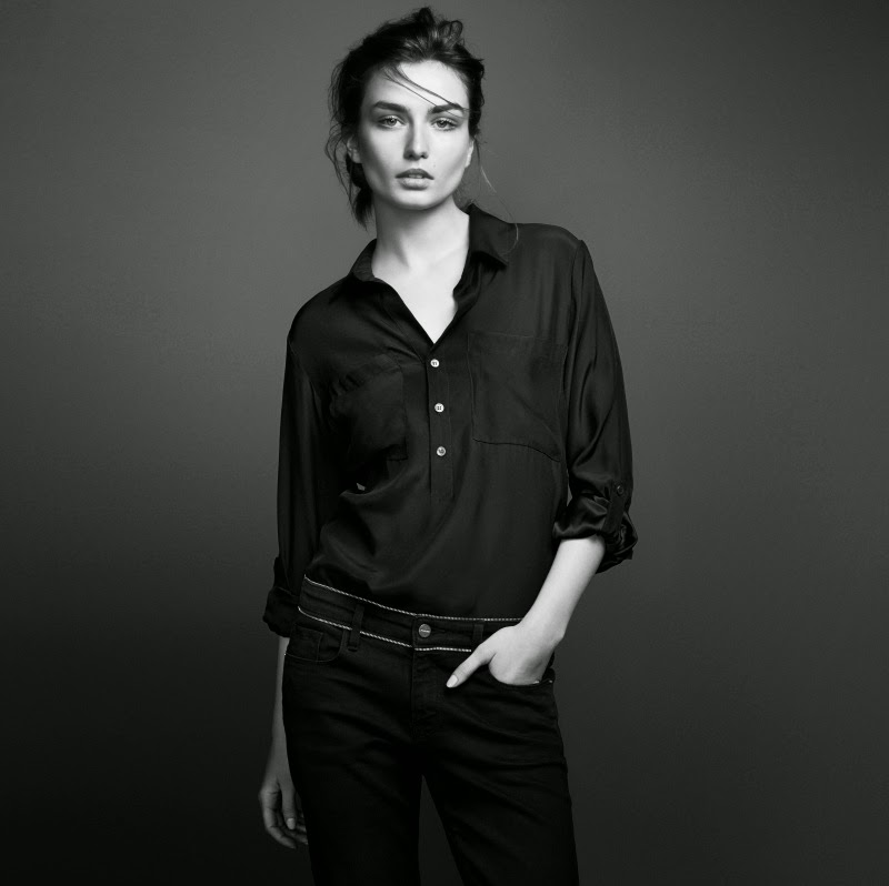 Andreea Diaconu stars for Frame Denim's Fall/Winter 2014 Campaign