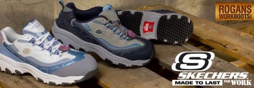 554175a40799 Rogan s Work Boots  Skechers Work D Lite SR - Comfortable Work Shoes ...