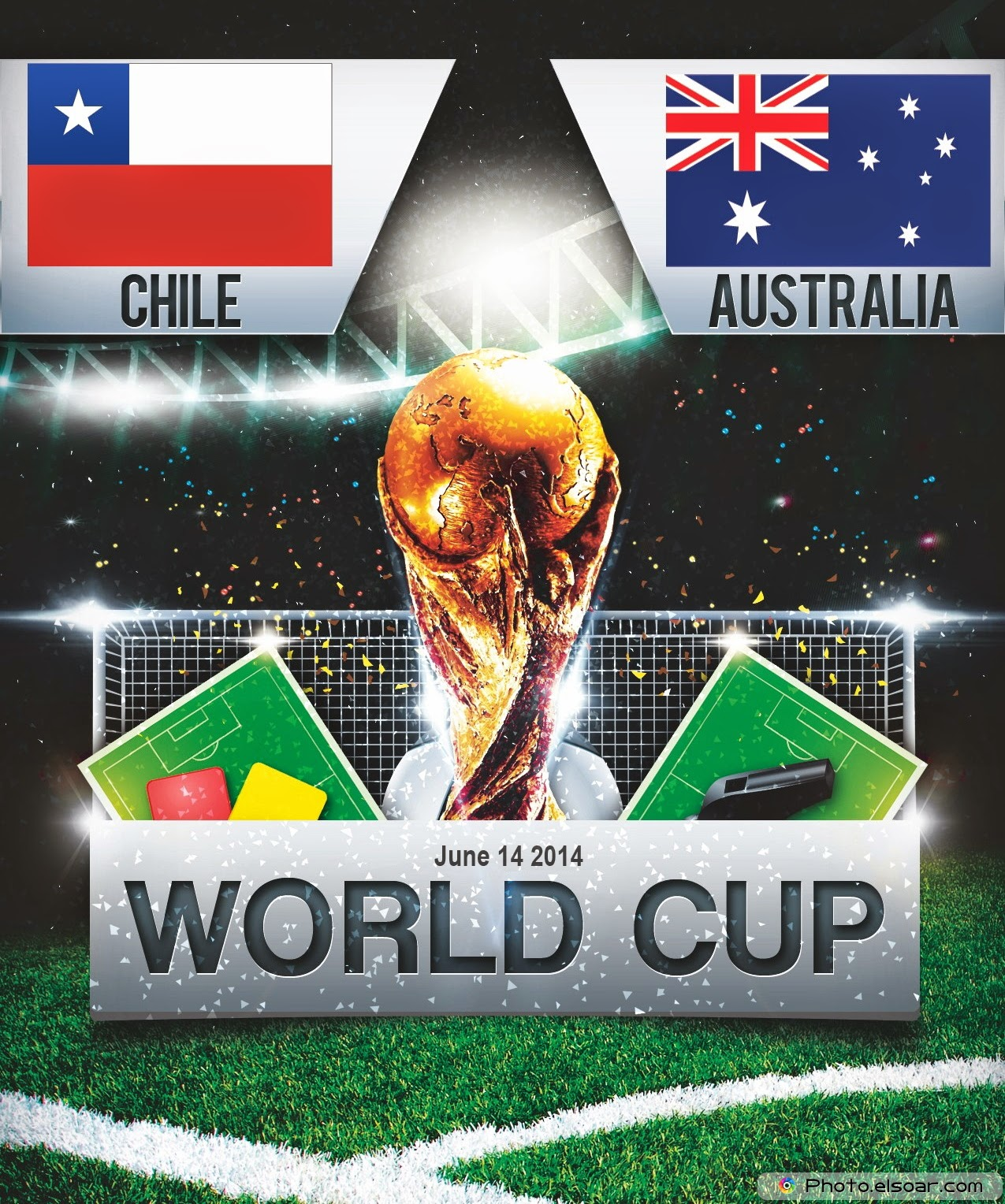 FIFA World Cup 2014- Chile Vs Australia