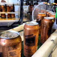 Upslope Pumpkin Ale canning line