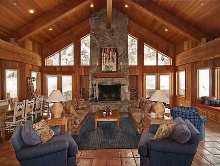 Ski house of the day june 2012 for Great room fireplace