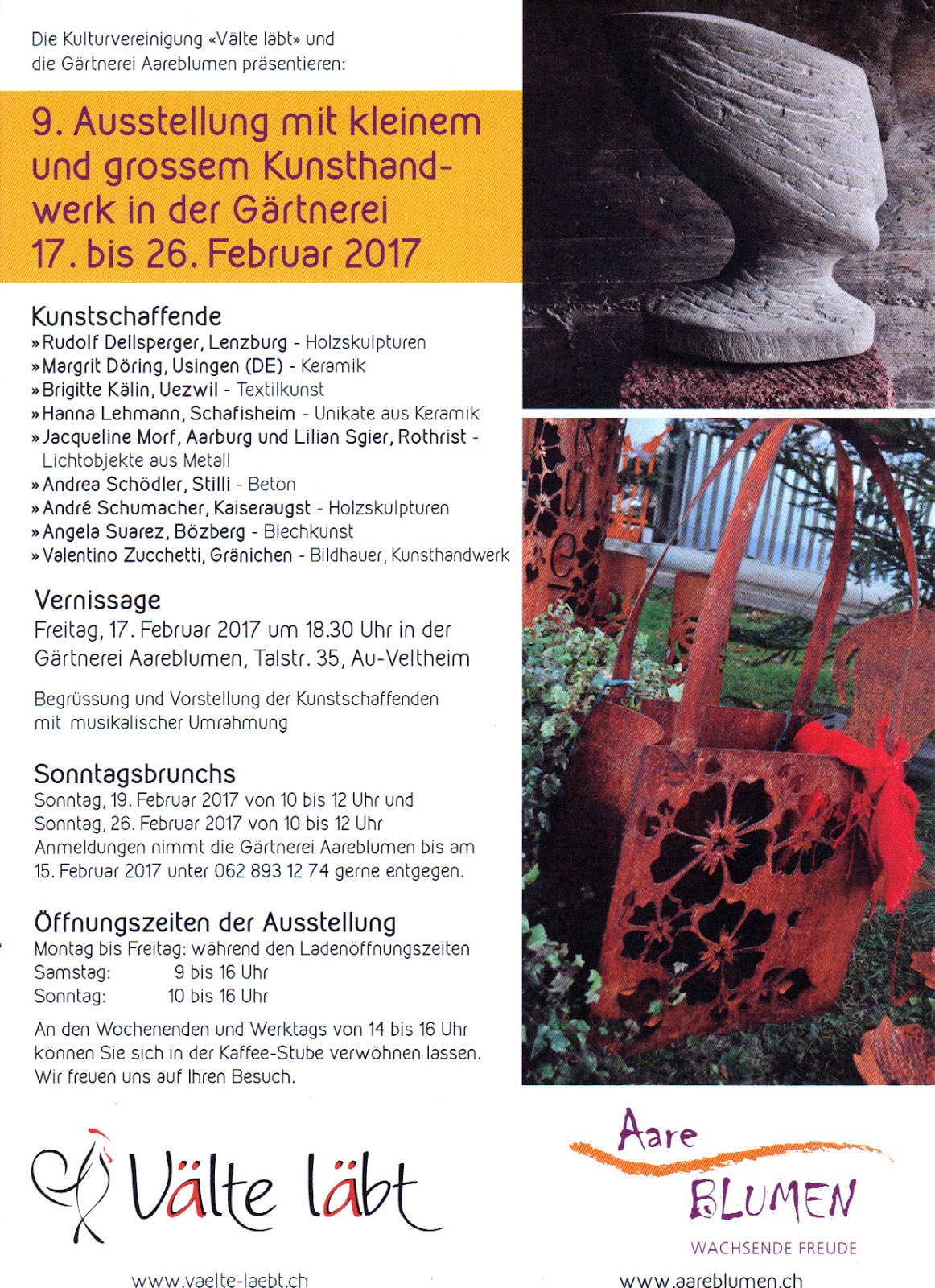 Ausstellung in Gärtnerei Aareblumen