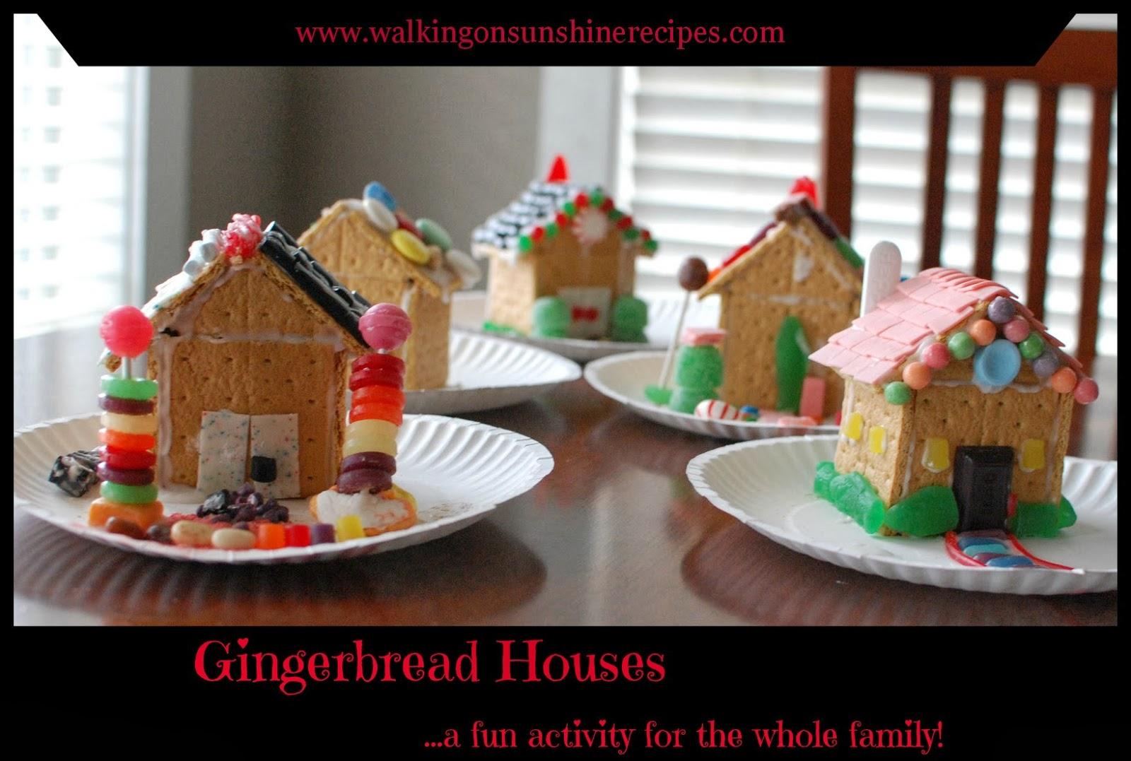 Premade Gingerbread Houses Gingerbread Houses Walking On Sunshine