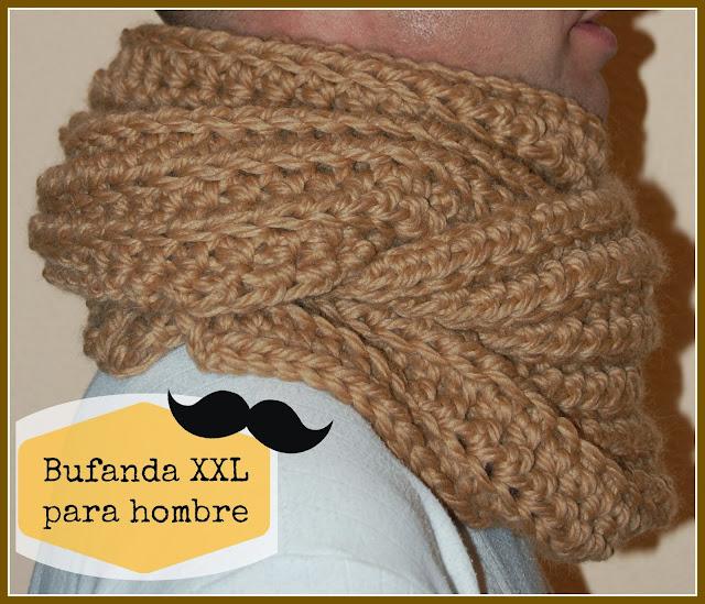 Quería una bufanda XXL, abrigadita y amorosa para estos días tan