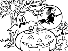 Halloween Girl Coloring Pages