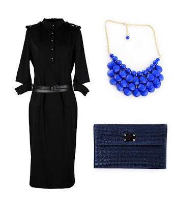 sheinside wishlist blue statement necklace