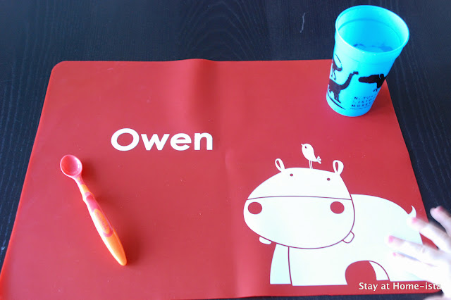 Personalized placemats and other baby gifts. Win a $25 gift card to Stuck On You for personalized products and labels!