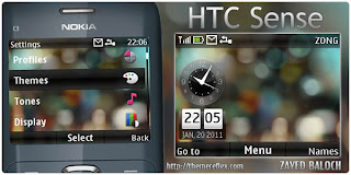 htc sense c3 theme by zb Download Tema Nokia C3 Gratis
