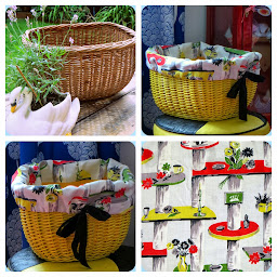 Yellow basket makeover