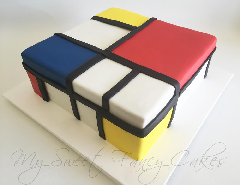 Mondrian Modern Cake