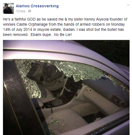 Photo: Alariwo Shot By Robbers In Ibadan