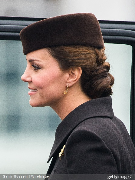 Catherine, Duchess of Cambridge attends the St Patrick's Day Parade at Mons Barracks on March 17, 2015 in Aldershot, England