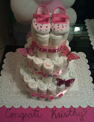 butterfly theme diaper cake