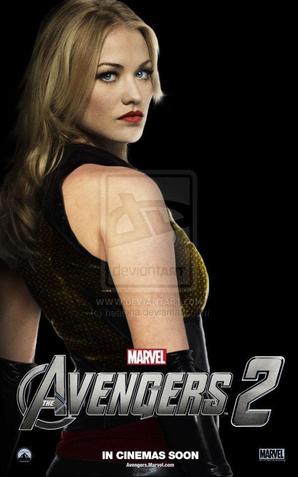 Fan art de Yvonne Strahovski como Ms. Marvel en  The Avengers 2 (Los Vengadores 2)