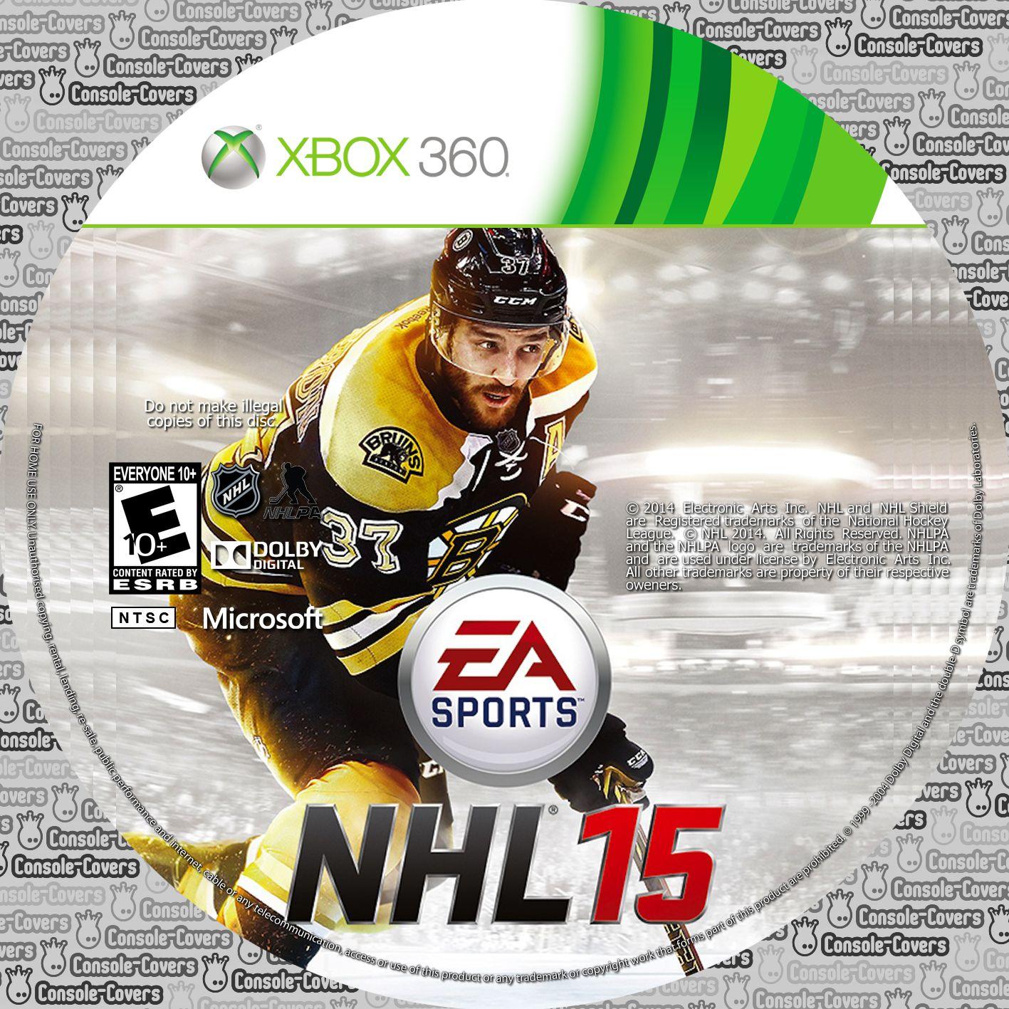 Label NHL 15 Xbox 360