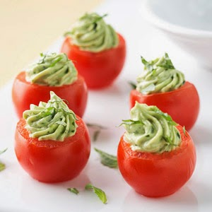 Avocado & Pesto Stuffed Tomatoes