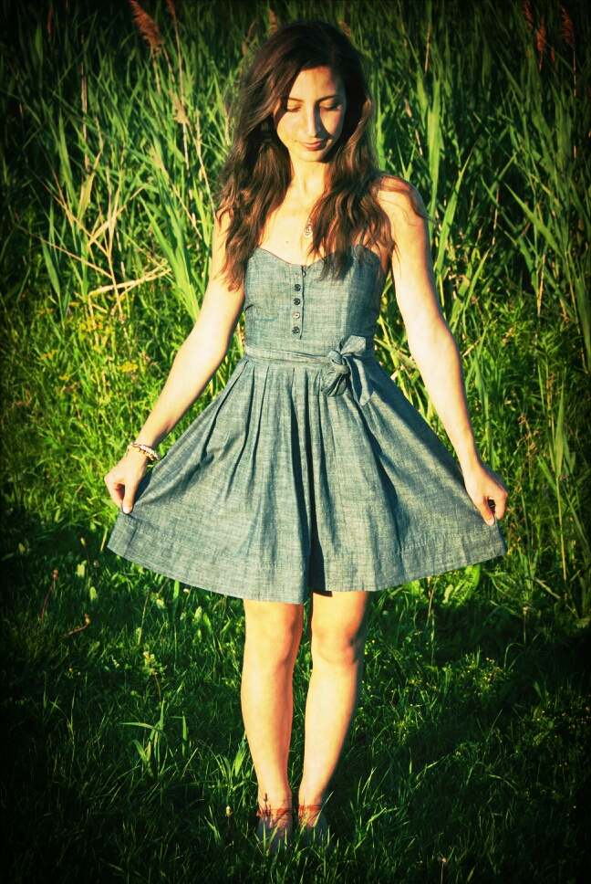 denim dress summer fashion