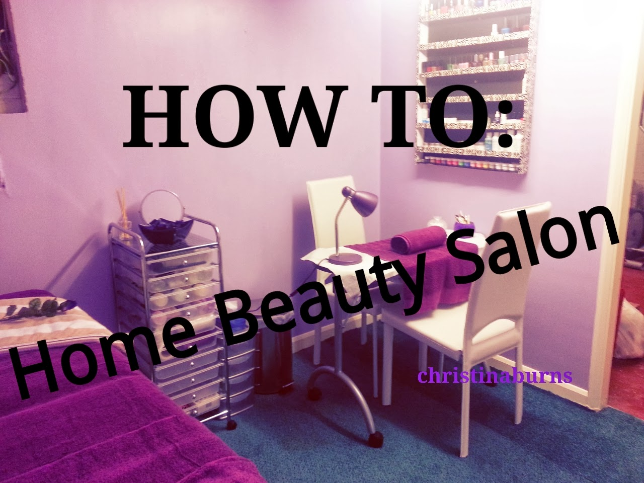 Beauty by christina how to decorate a home beauty salon for How to make a beauty salon at home