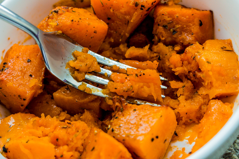 Butternut pumpkin so soft it simply mushes when you press with a fork