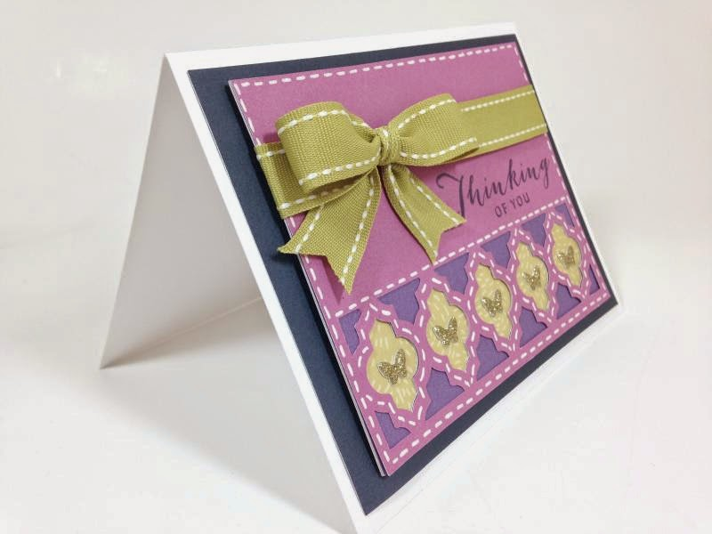 Cricut Moroccan Tile card sideview