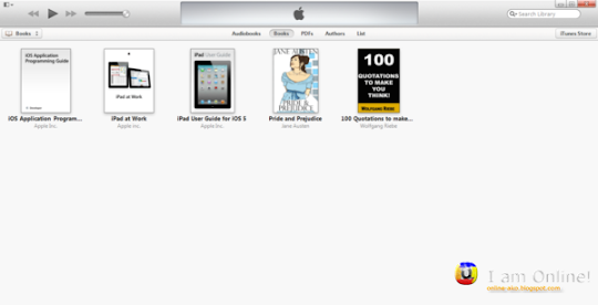 iTunes 11 Books