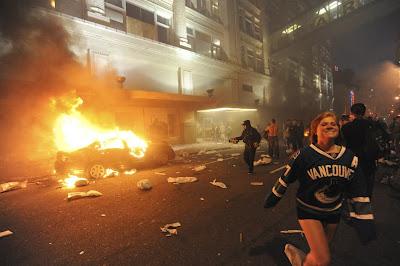 protestas y violencia luego de un partido de hockey en canada vancouver