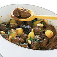Lamb Tagine with Honey, Prunes, Onions & Toasted Almonds