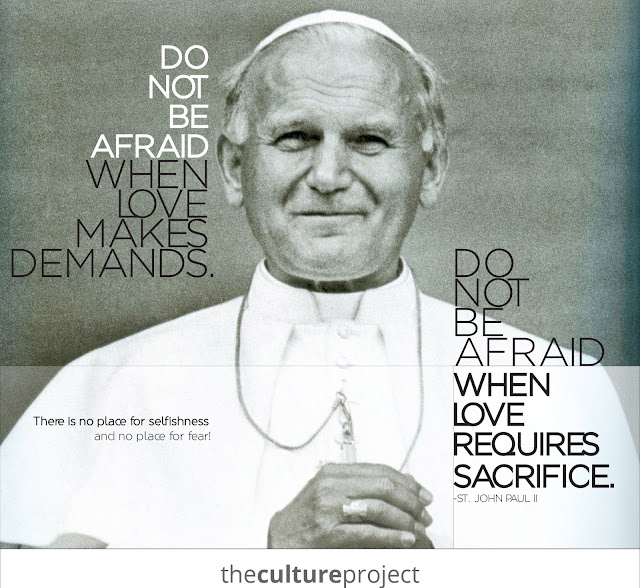 jpii  quotes, jpii quotes on love, jpii quotes on sacrifice, jpii artwork, jpii graphics, the culture project, chastity education, pro-life education, fully alive, catholic wedding advice, advice from catholic couple, catholic couple of 15 years, catholic weddings, catholic marriage prep, catholic brides, blog for catholic brides, catholic wedding blog, catholic bride blog, catholic marriage prep, catholic wedding planning, captive the heart