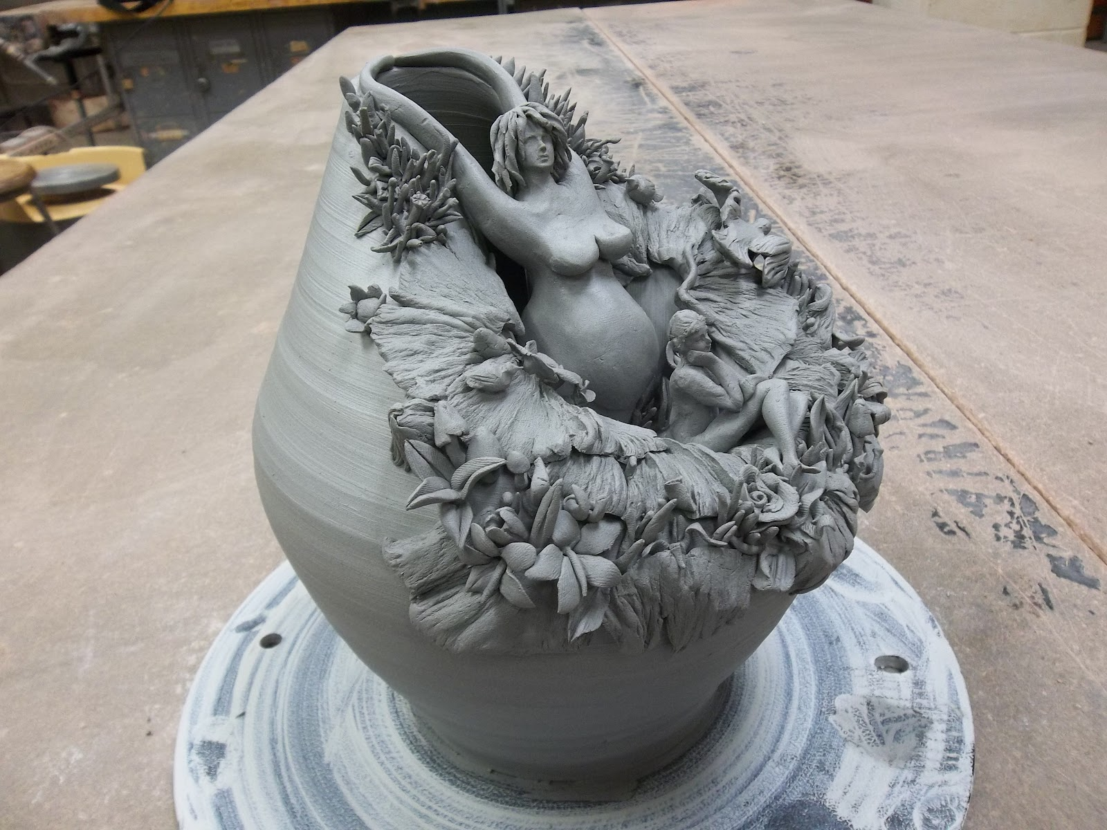 Low Fire Clay : The butterfly people low fire white clay