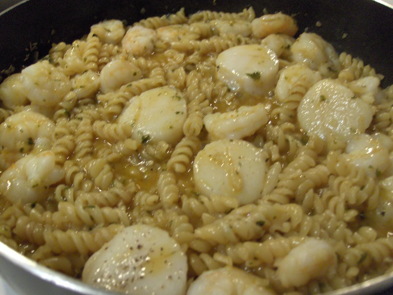 Shrimp Scampi Over Whole Grain Linguini Recipes — Dishmaps