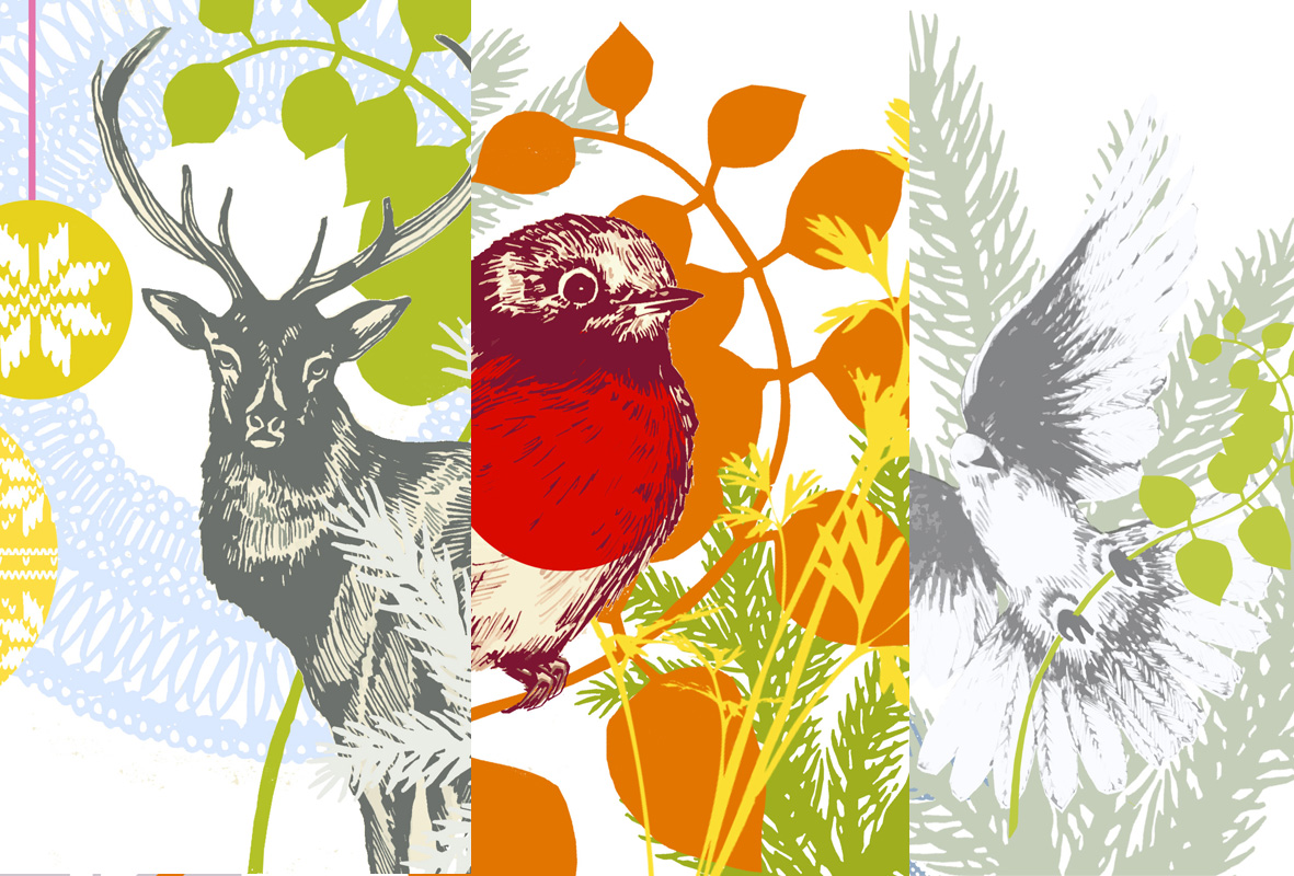 Vicki Johnson: Christmas card prints taster...