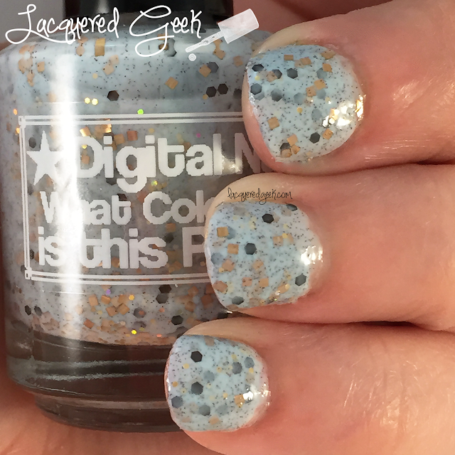 Digital Nails What Color is this Polish? nail polish swatch by Lacquered Geek