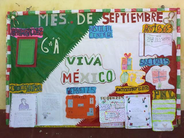 Periodico mural septiembre primaria imagui for Cuales son las secciones de un periodico mural