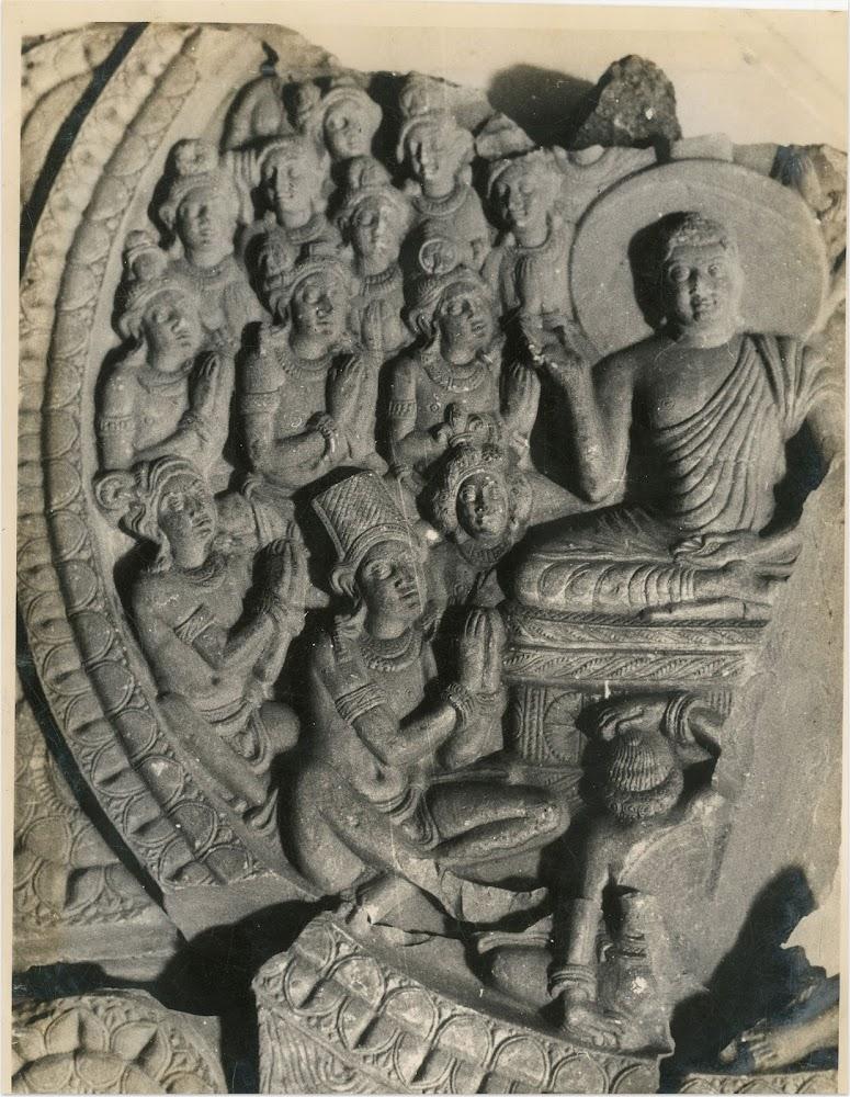 The Buddha and the Devas - Nagarjunakonda, 3rd Century AD