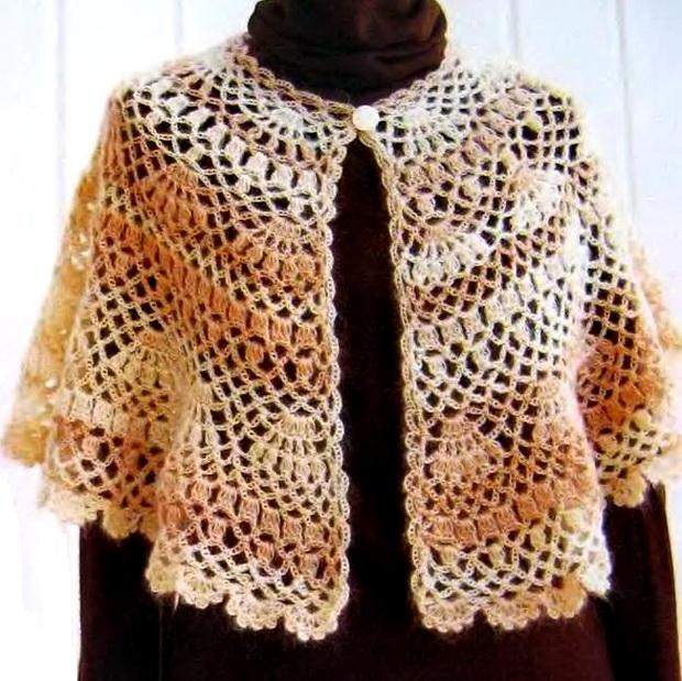 Crochet Patterns Capes : Crochet Shawls: Outerwear Cape For Women - Crochet Cape Pattern