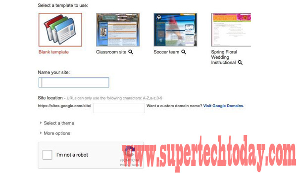 Create a personal website quickly using google sites super tech today give your site a name and then customize the end of the url if you like by default itll just be sitesgooglesitesitename maxwellsz