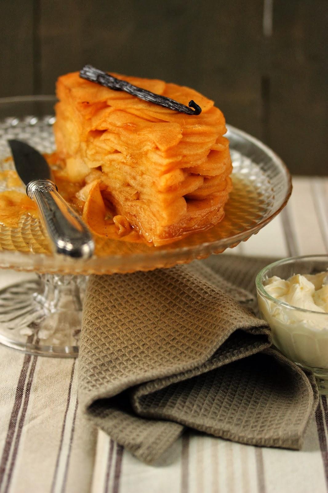 Dans la cuisine de sophie mille feuilles de pommes au sirop de vanille - Feuille de cuisine ...