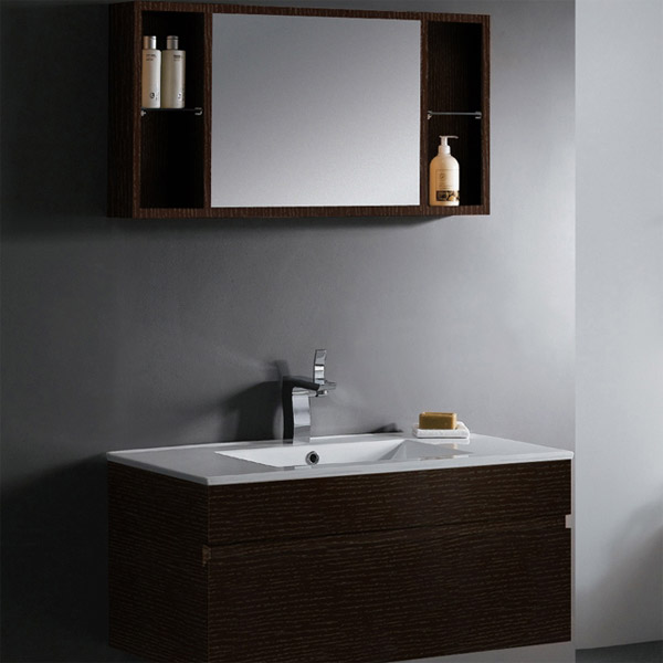 Single Vanity With Mirror And Shelves Single Vanity With Mirror
