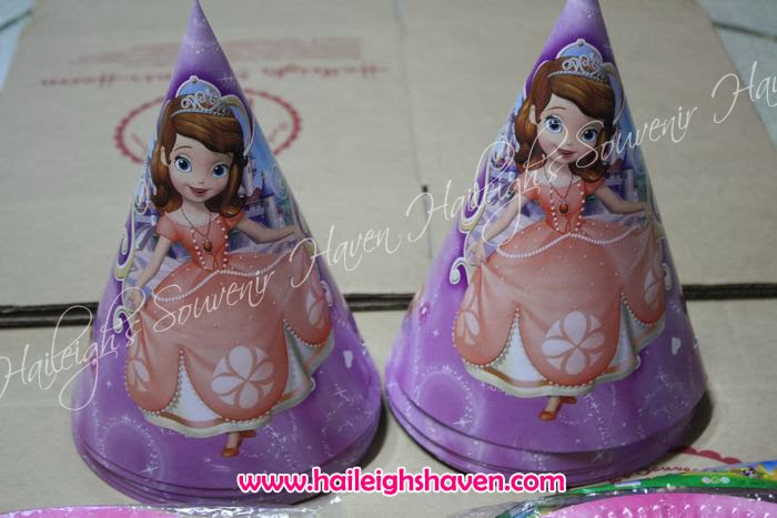 FOIL BALLOONS LOOT BAGS FLAG BANNERS COLORING BOOKS PAPER PLATES PAPER CUPS PARTY HATS LASER STICKERS CAKE TOPPERS & SOFIA THE FIRST: KAREN Cu0027S ORDERS | Haileighu0027s Souvenir Haven