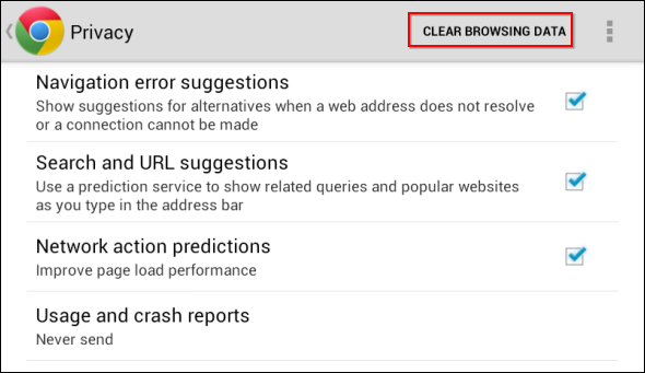 how to delete my web history on my android