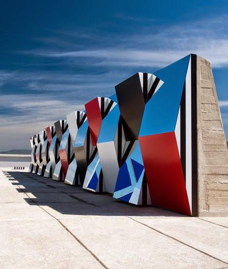 Daniel Buren, Défini, Fini, Infini, Cité Radieuse (Le Corbusier, 1952)