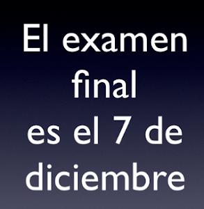 Fecha de examen final