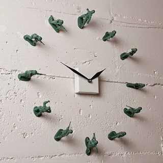 Handmade soldiers toy clock