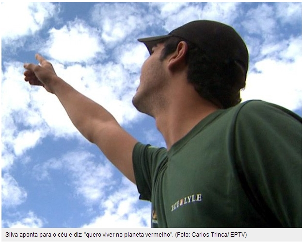 Estudante de Ribeirao Preto, interior de Sao Paulo, quer ir morar em Marte. Ele e um dos 100 mil inscritos no projeto.