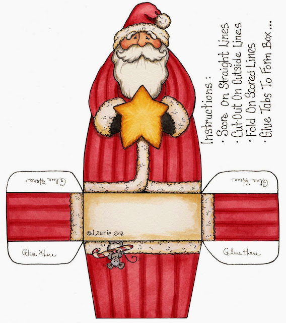 Free Printable Santa Boxes in Different Styles.