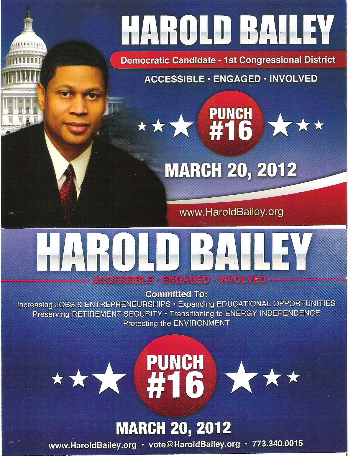 The Sixth Ward: Congressional campaign flyer...