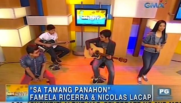 """Famela Ricerra and Nicolas Lacap """"Sa Tamang Panahon"""""""